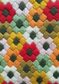needlepoint flower pattern