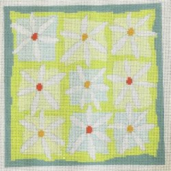 Daisies by Pippin handpainted needlepoint