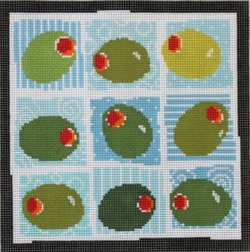 Olives by Pippin handpainted needlepoint