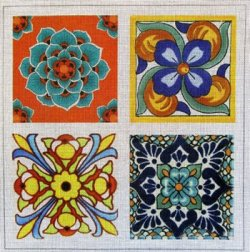 Talavera tiles by UniqueNZ needlepoint