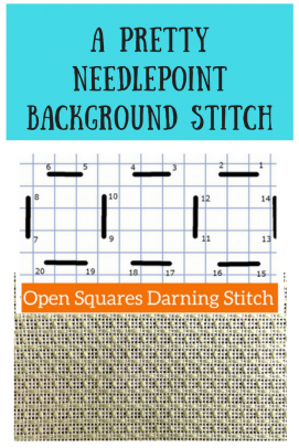 open squares needlepoint darning stitch