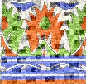 Granada Tile handpainted needlepoint canvas.