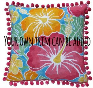 needlepoint pillow finishing