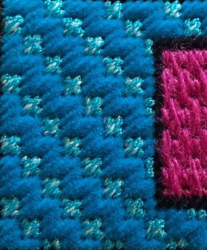 bargello with mosaic needlepoint stitch
