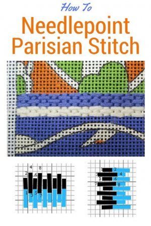 needlepoint parisian stitch how to