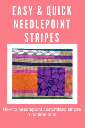 how to needlepoint stripes