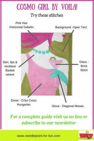 Needlepoint stitch guide for