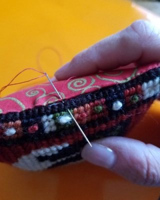 slip stitch for your needlepoint finishing