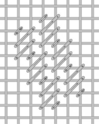 Diagonal Cashmere needlepoint stitch