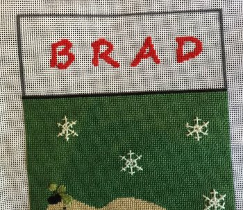 applying lettering to needlepoint canvas