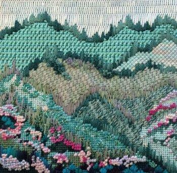 Misty Mountain needlepoint by JulieMar