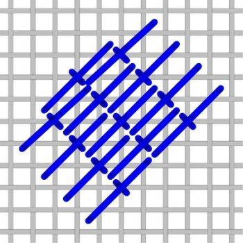 Diagonal Roumanian needlepoint stitch to the right