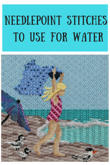 needlepoint stitch for water