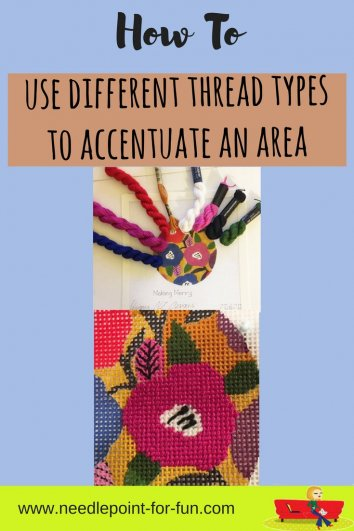 how to use different fibers to accentuate an area on your canvas