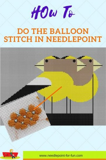 how to do the balloon stitch and the best places to use it
