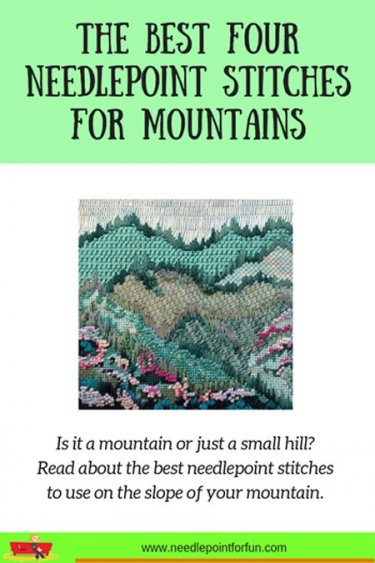 The best needlepoint stitches to use on mountains