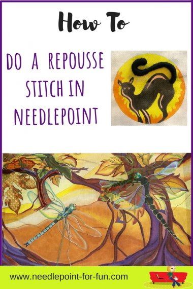 how to do a repousse stitch in needlepoint