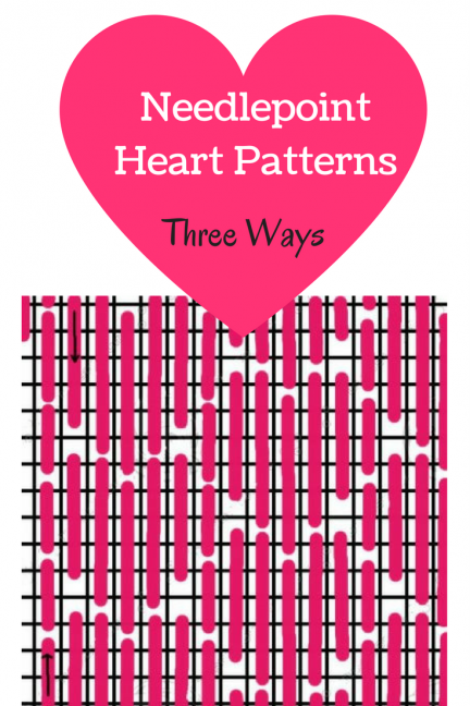 needlepoint heart patterns how to