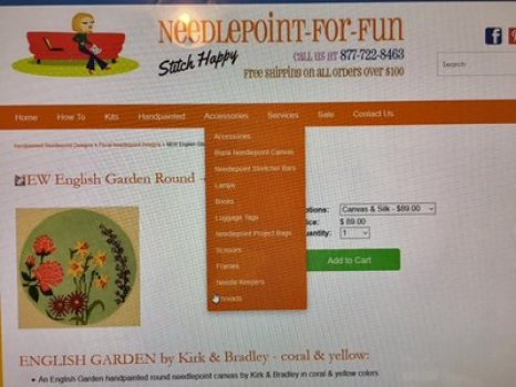 purchasing kitted canvas with needlepointforfun