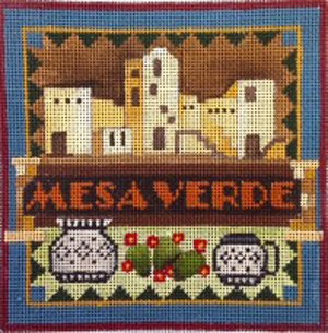 Mesa Verde national park needlepoint by Denise De Rusha