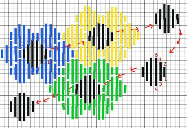 how to stitch a needlepoint flower pattern