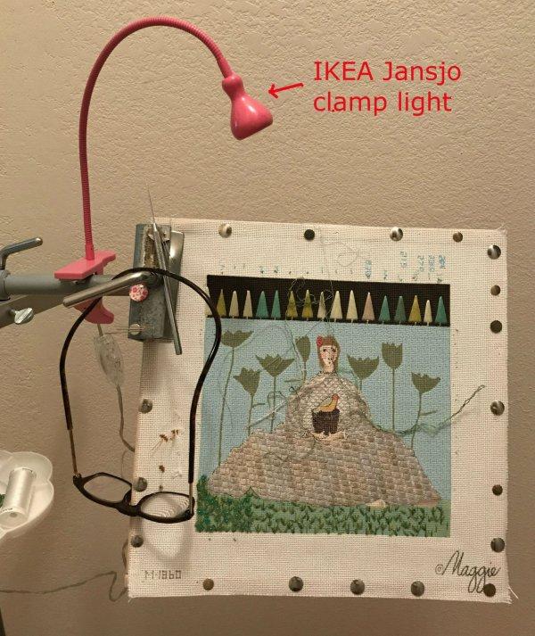 needlework portable light