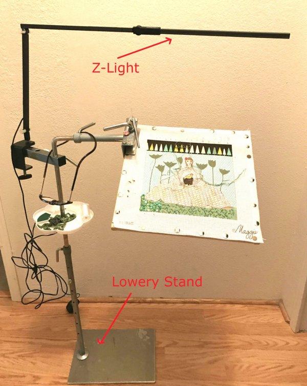 portable lamp light for needlework