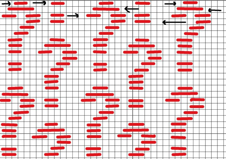 question mark needlepoint darning pattern