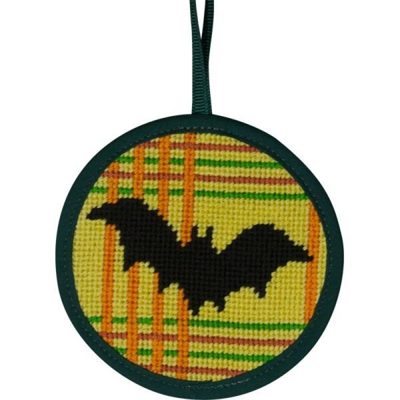 Halloween Needlepoint Ornament Bat