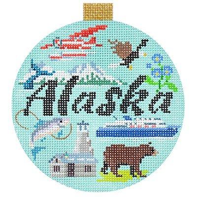 Alaska Needlepoint Travel Round