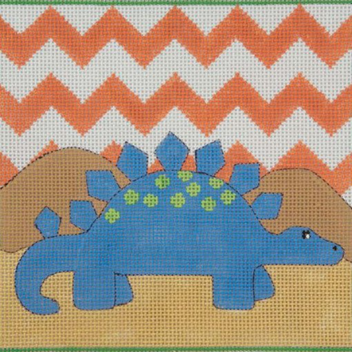 Blue Stegasaurus Needlepoint