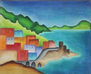 Amalfi Coast Needlepoint