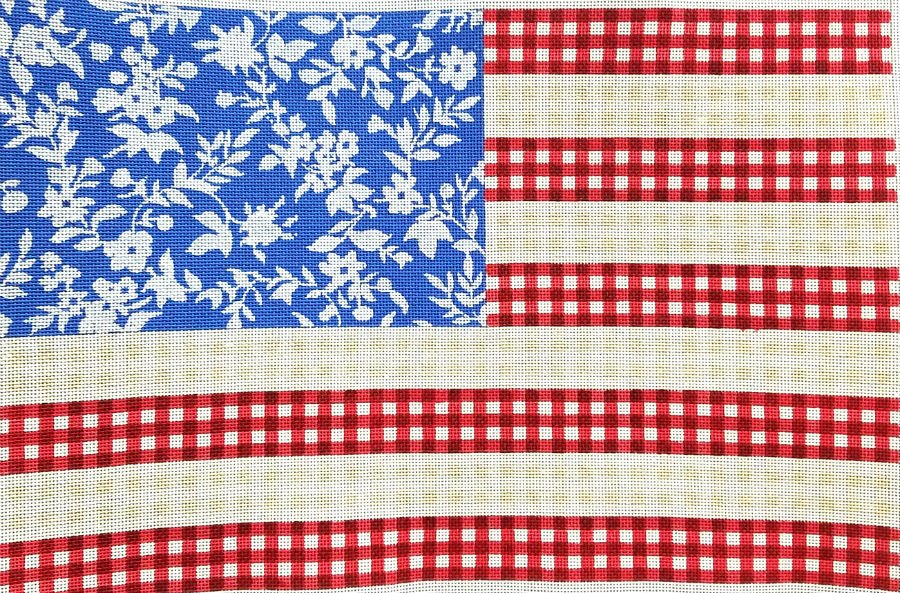 American Flag Needlepoint By Kirk & Bradley