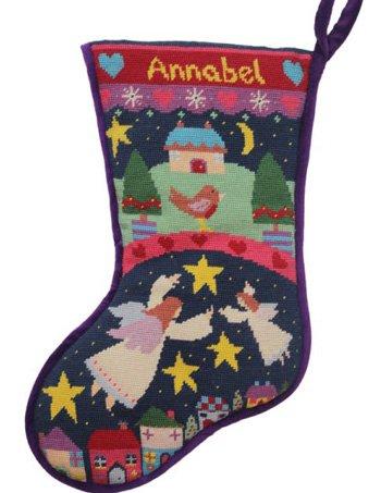 Angels Needlepoint Christmas Stocking Kit
