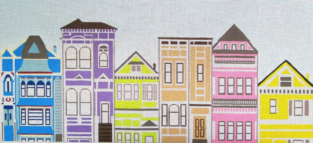 Victorian Houses Needlepoint