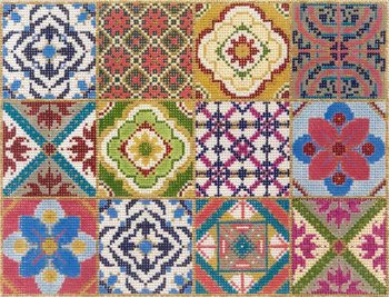 12 Square Patchwork needlepoint