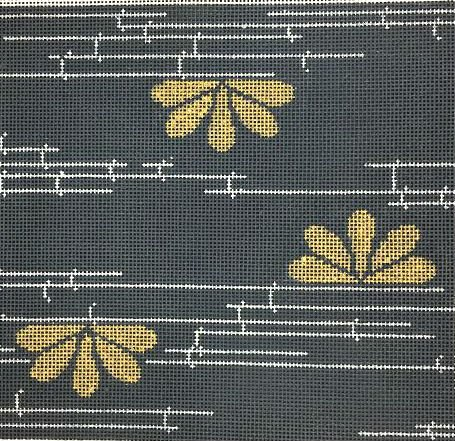 Bamboo on Grey Needlepoint