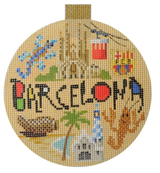 Barcelona Needlepoint Ornament