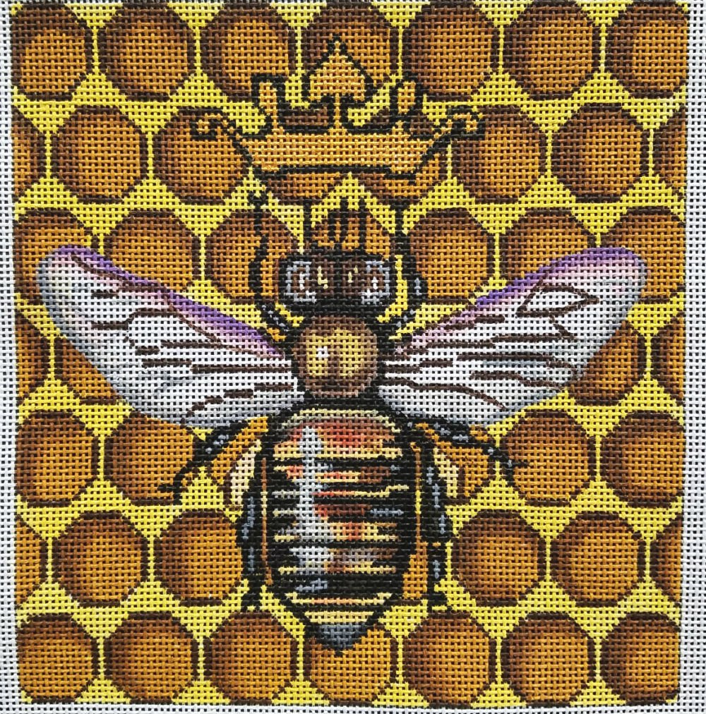 Bee and Honeycomb Needlepoint