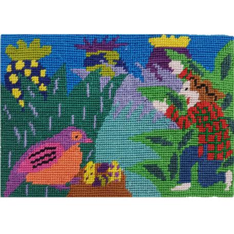 Jennifer Pudney Needlepoint Bird Watcher