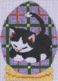Black Cat on Easter egg