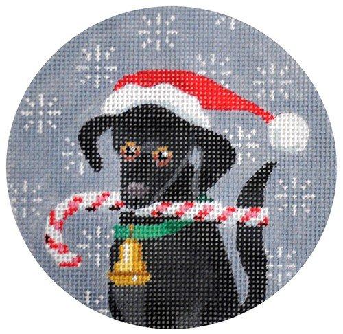 Black Lab Needlepoint Ornament