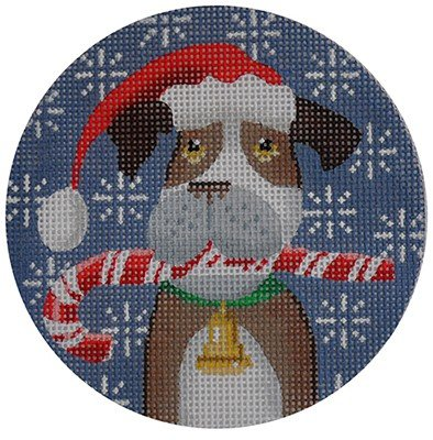 Boxer Needlepoint Ornament