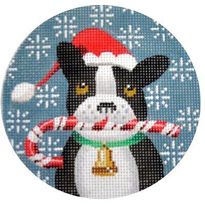 French Bulldog Needlepoint Ornament