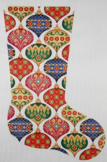 Needlepoint Christmas Stocking Jeweled Ornaments