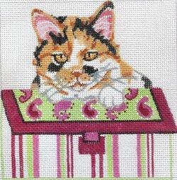 Calico cat in purse by JulieMar