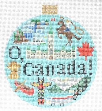 Canada Needlepoint Ornament