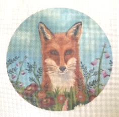 fox needlepoint