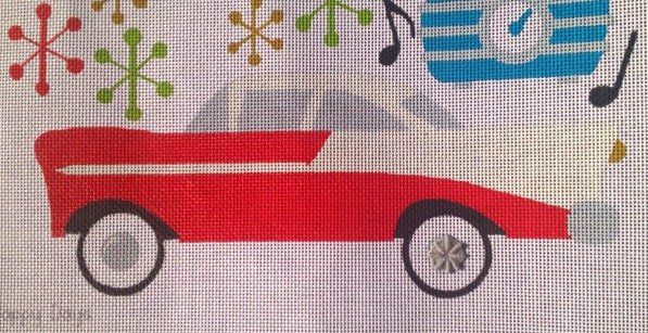 Happy Days needlepoint