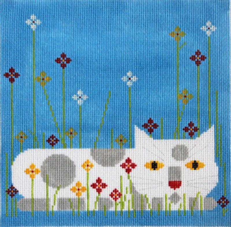 Charley Harper Needlepoint Calendar Cat